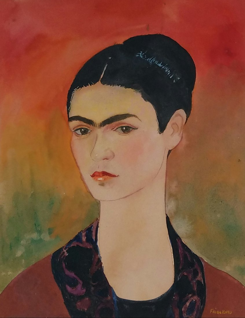 Frida Kahlo (1907-1954) Watercolor on Paper