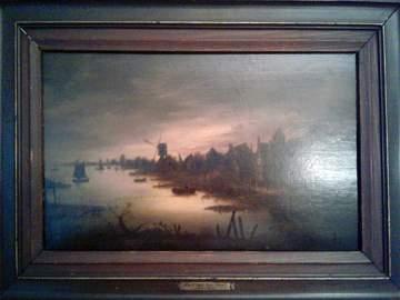 """Sunrise  """"School of Aert Van Der Neer"""""""