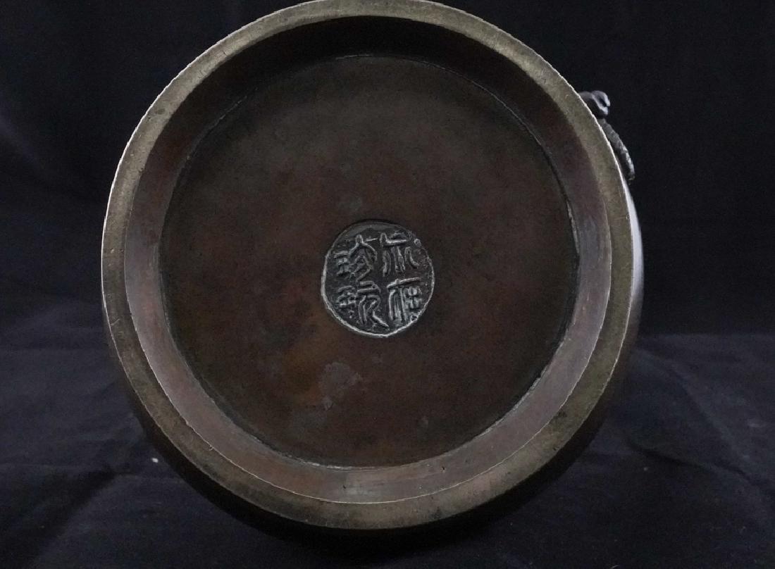 Long Neck Bronze Garlic-Head Vase - 4