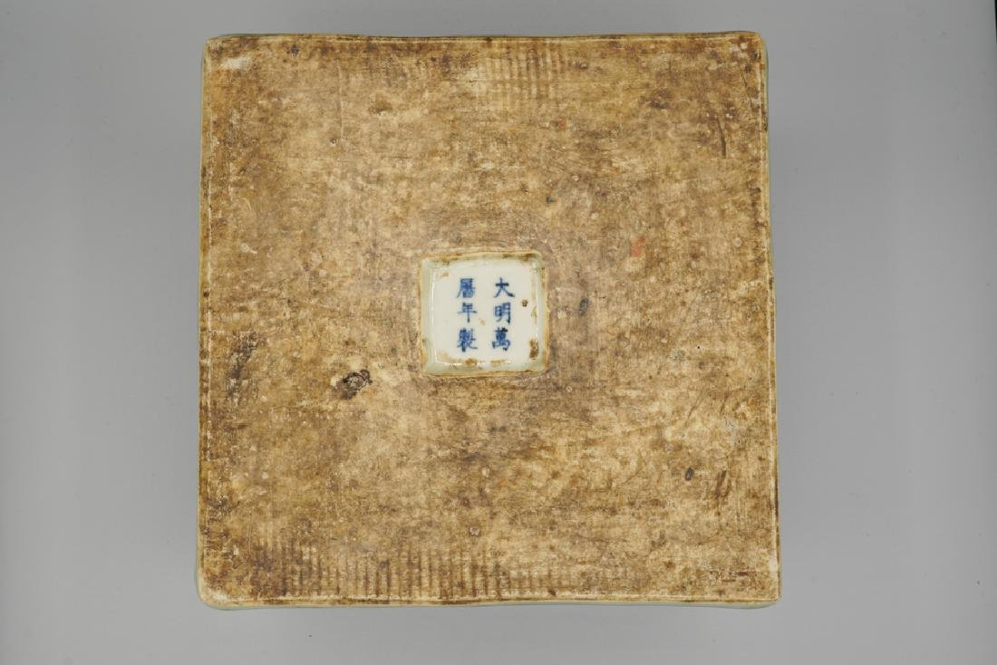 China Ming Dynasty Blue and White Square Box - 2