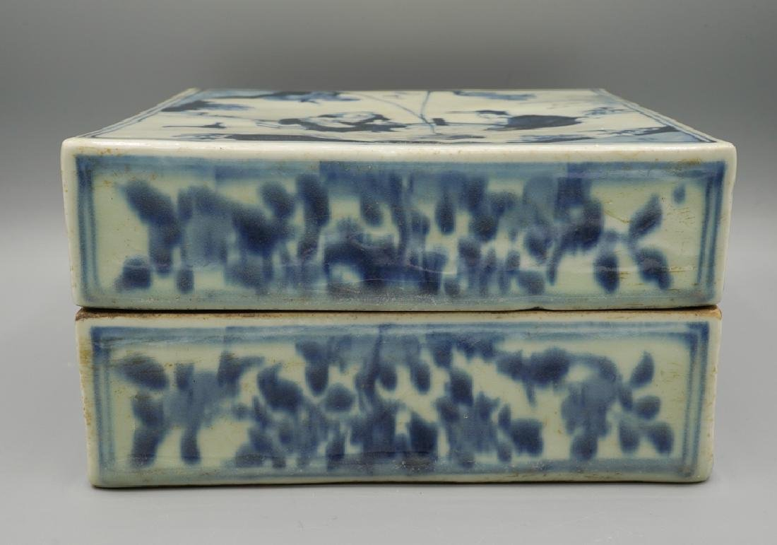 China Ming Dynasty Blue and White Square Box - 3