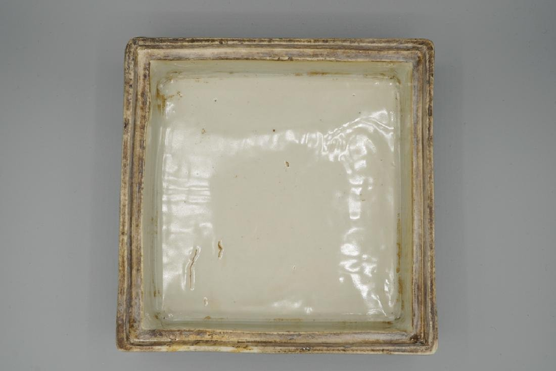 China Ming Dynasty Blue and White Square Box - 5