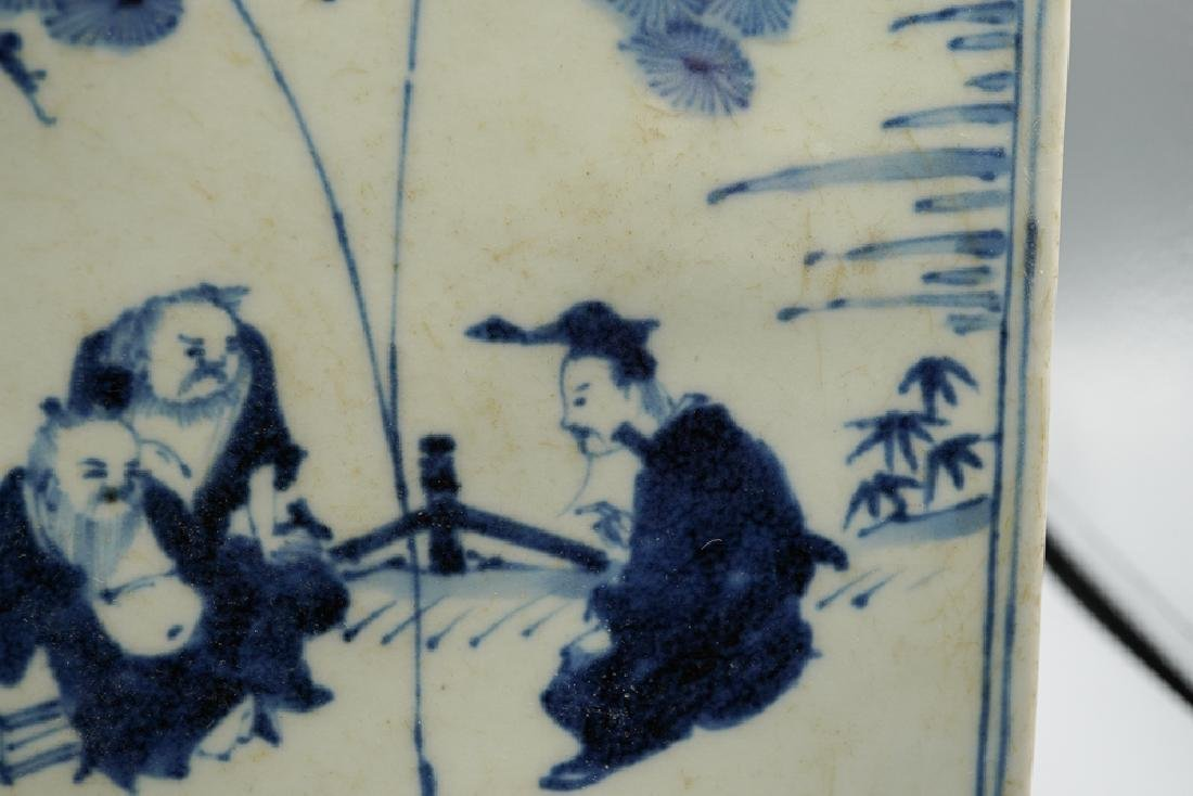 China Ming Dynasty Blue and White Square Box - 6
