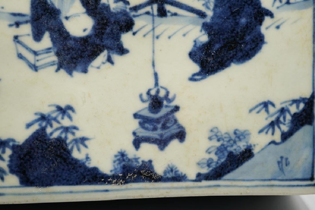 China Ming Dynasty Blue and White Square Box - 7
