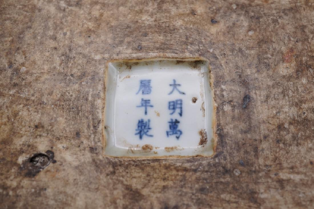 China Ming Dynasty Blue and White Square Box - 8