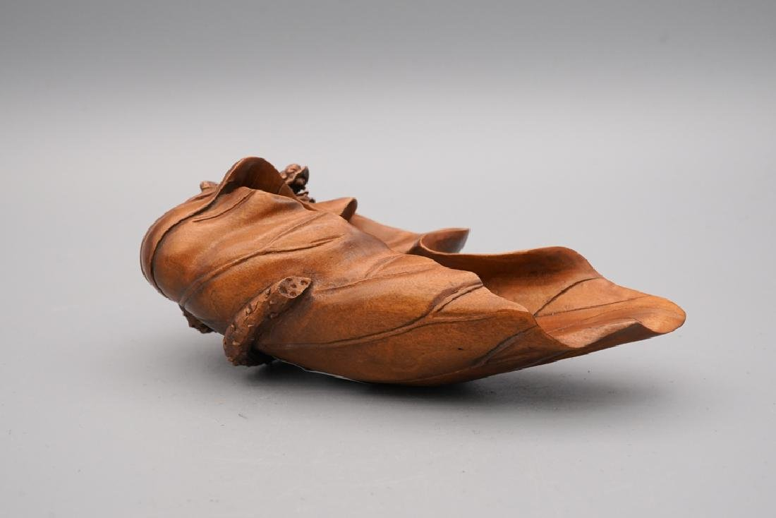 A carved boxwood