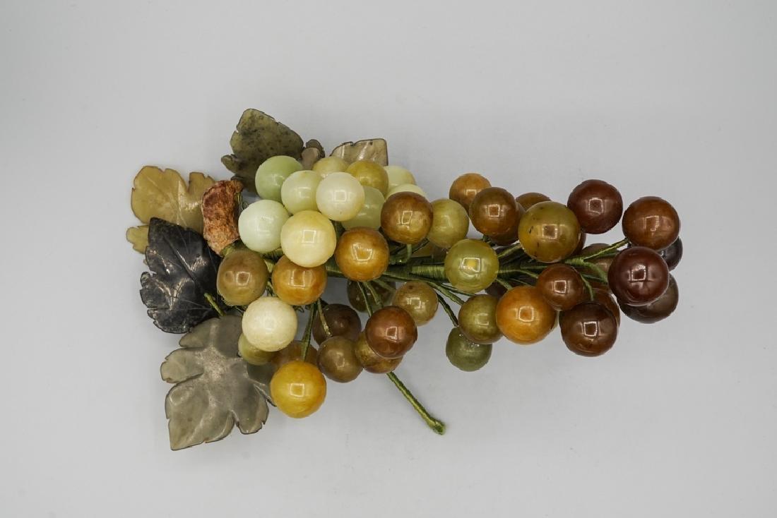 Chinese Celadon Russet Jade Grape - 3