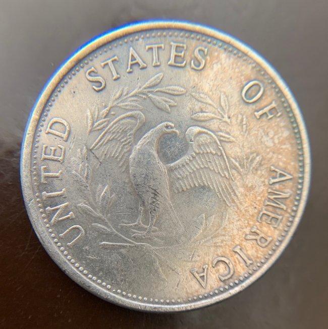 1795 Flowing Hair Dollars : 3 Leaves Silver Dolla - 3