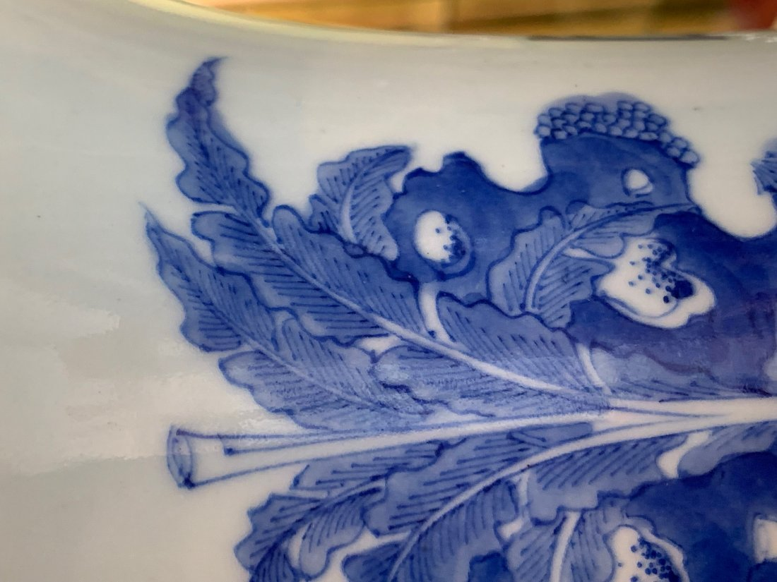 China Qing Dynasty Blue and White Vase - 10
