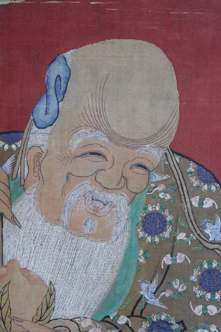 A Chinese scroll painting  Star of Longevity - 3