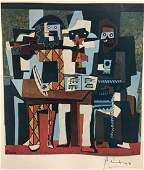 Three Musicians - Pablo Picasso Lithograph