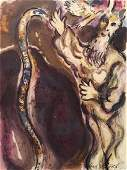 Story Of Exodus - Marc Chagall Lithograph