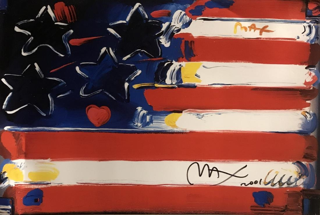 Peter Max Signed Lithograph - America 2000