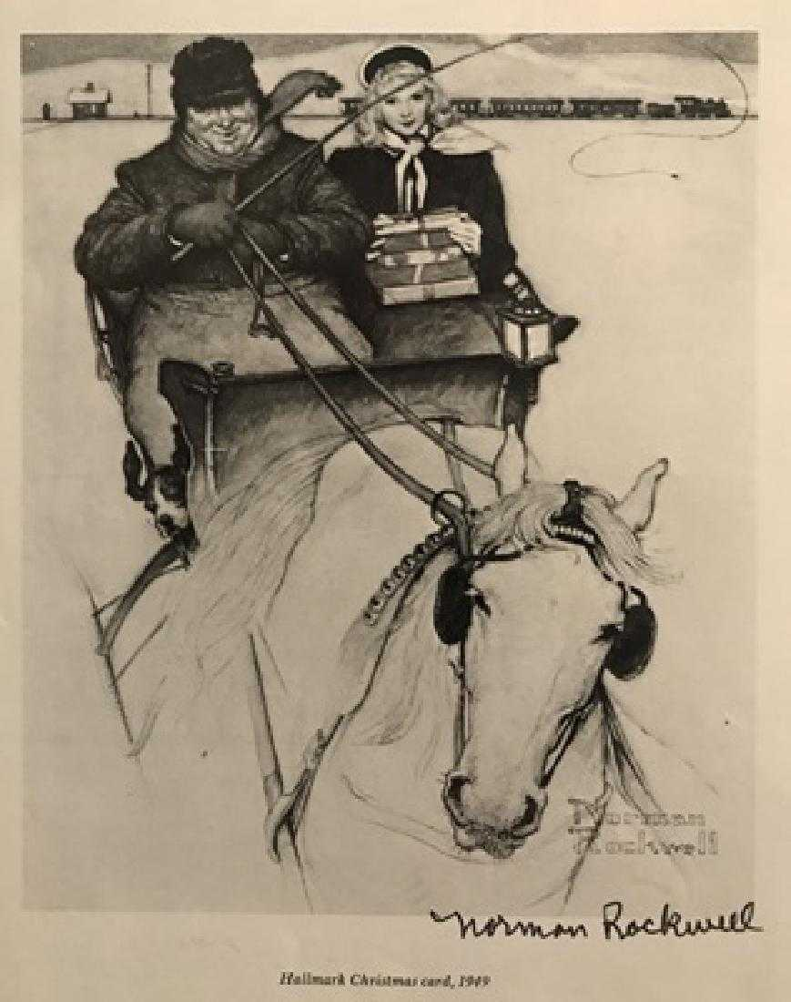 Christmas Card - Norman Rockwell Lithograph