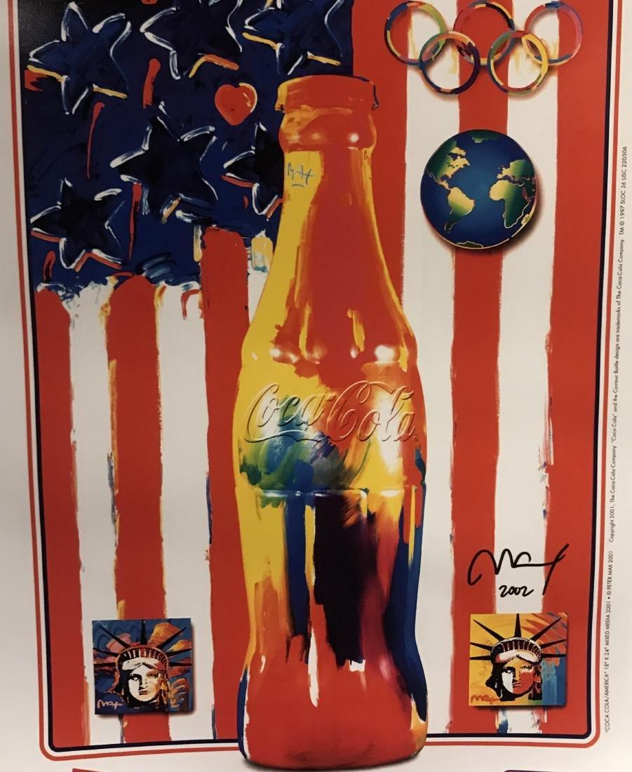 Peter Max Signed Lithograph - Coca-Cola/America