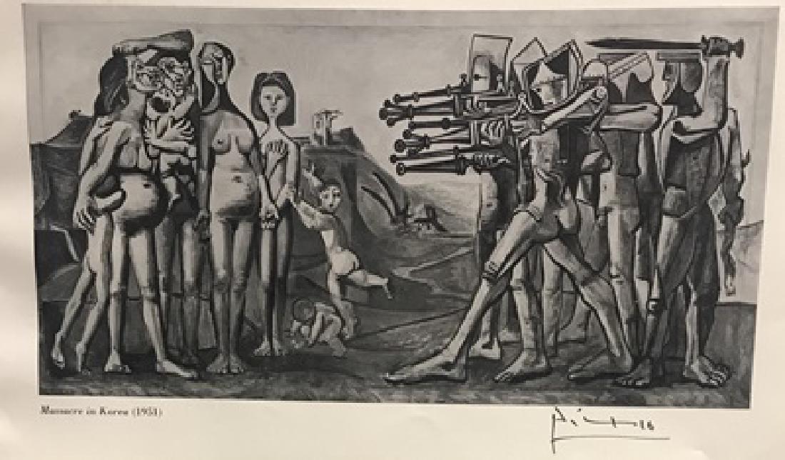 Massacre in Korea - Pablo Picasso Lithograph