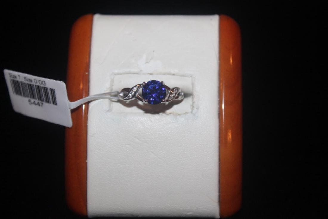 Fancy Green Amethyst & Diamond Ring