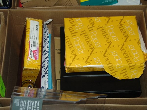 1005: BOX OF OFFICE SUPPLIES BOX OF OFFICE SUPPLIES  AP