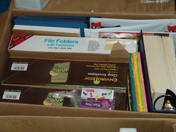 1007: BOX OF OFFICE SUPPLIES  APPEARS TO INCLUDE BOX OF