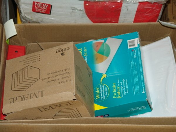 1008: BOX OF OFFICE SUPPLIES  APPEARS TO INCLUDE BOX OF