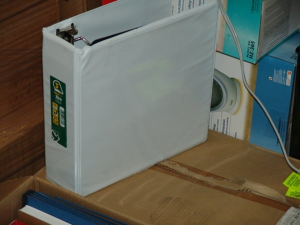 """1010: WHITE 3"""" D RING VIEW BINDER WHITE 3"""" D RING VIEW"""