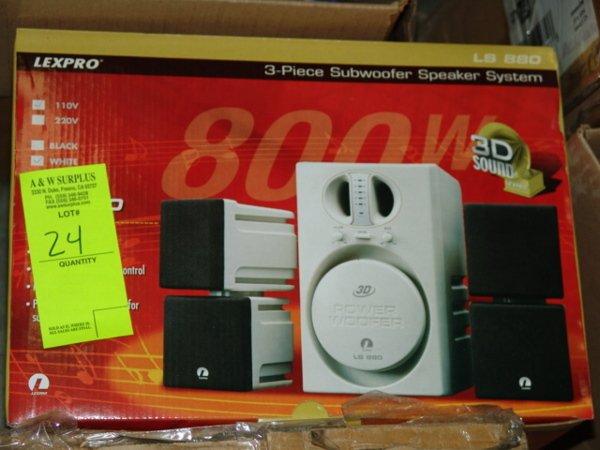 1024: LEXPRO 800 WATT SUBWOOFER SPEAKER SET BRAND NEW L
