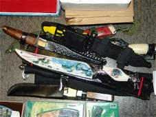 2292: ASST HUNTING KNIFE WITH SHEATH Quantity: 7