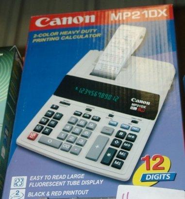11: CANNON MP21DX PRINTING CALCULATOR CANNON MP21DX PRI