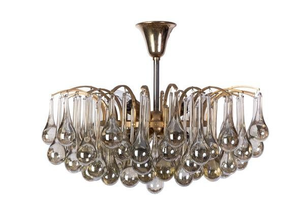 Mid-Century Crystal Chandelier By Christoph Palme