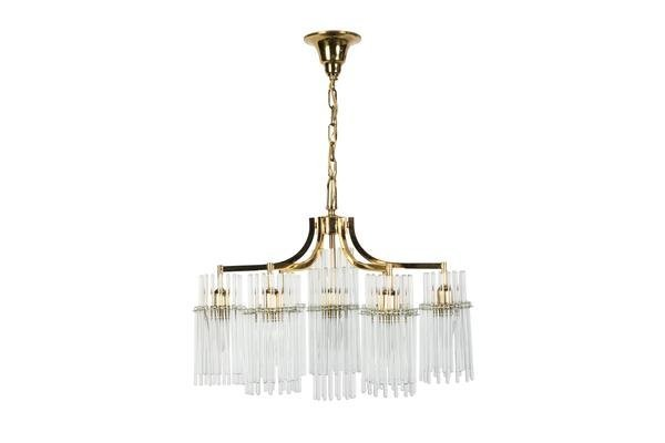 Exceptional Crystal Chandelier Pendant By Palwa