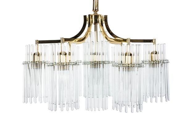 Exceptional Crystal Chandelier Pendant By Palwa - 3