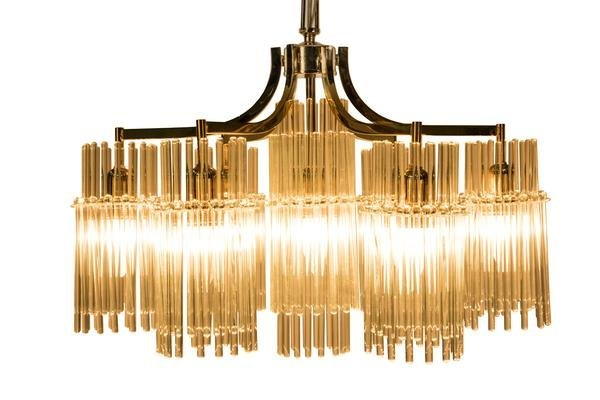 Exceptional Crystal Chandelier Pendant By Palwa - 4