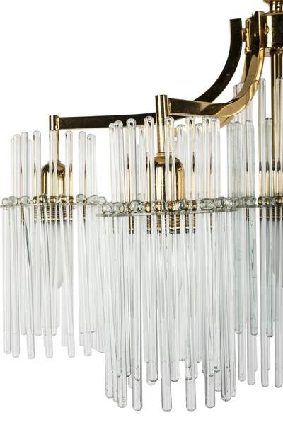 Exceptional Crystal Chandelier Pendant By Palwa - 6