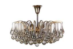 MidCentury Crystal Chandelier By Christoph Palme
