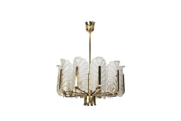 Mid-Century Chandelier By Carl Fagerlund For Orrefors