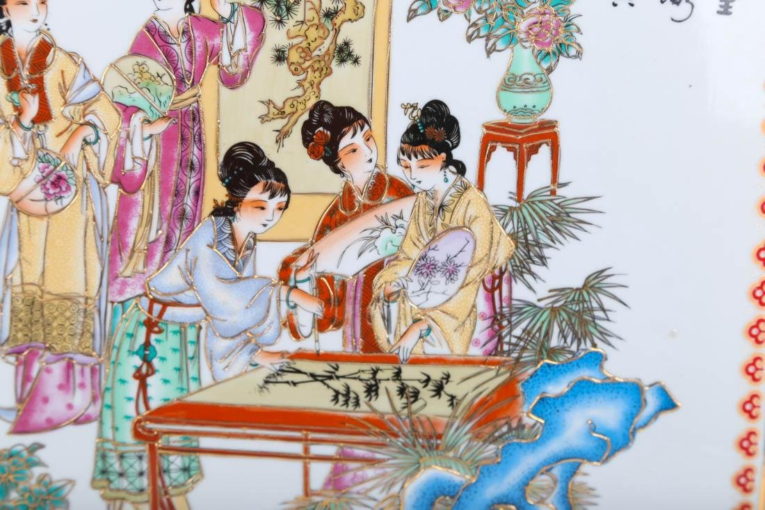 Chinese painting on porcelian board - 2