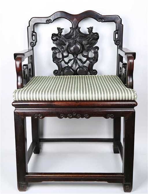 - Chinese Antique Rosewood Chair