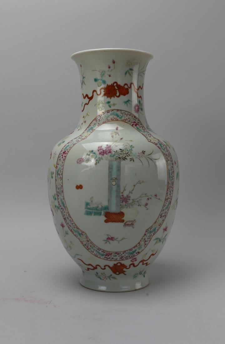Qing dynasty famille rose bottle