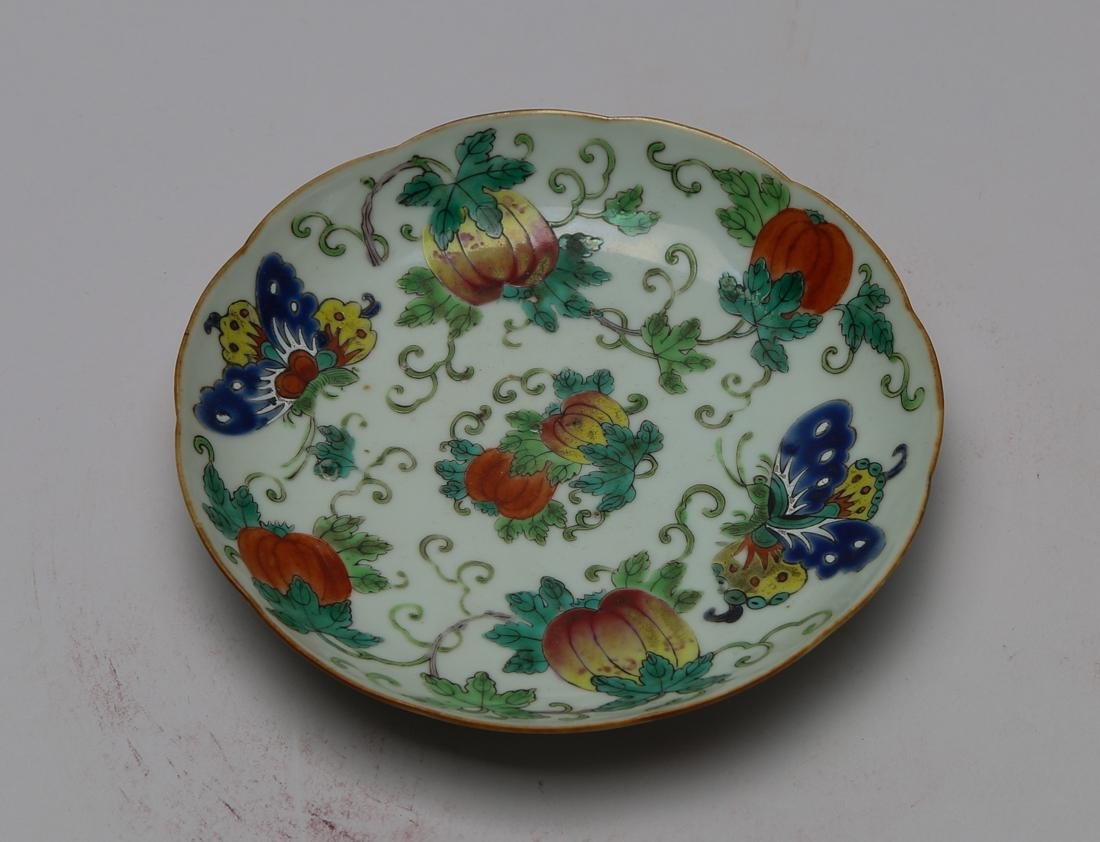 Qing dynasty famille rose plate