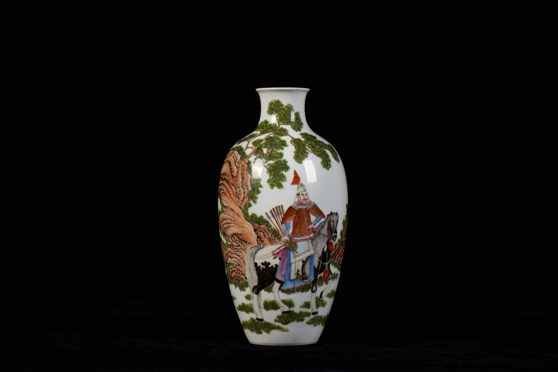Ming dynasty famille rose vase with figure painting