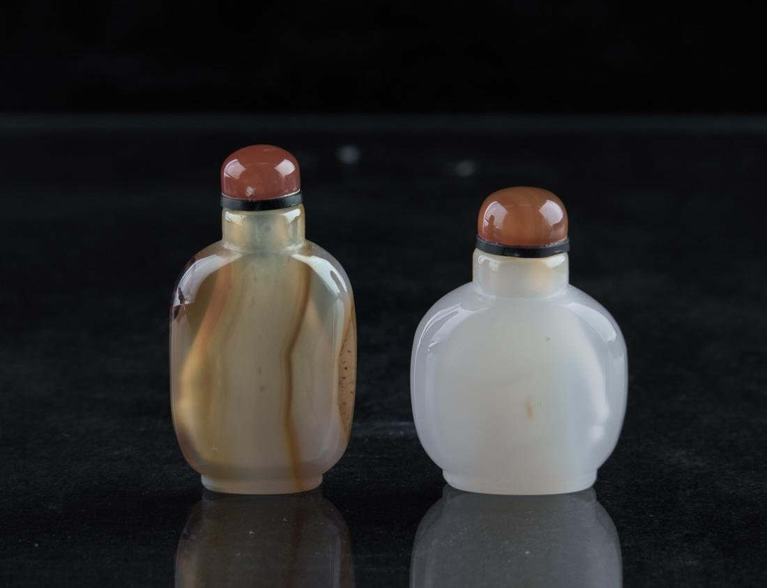 Two Chinese agate snuff bottle