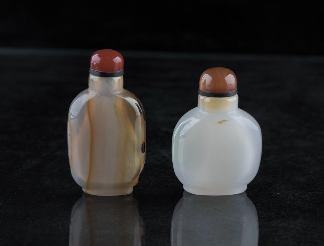 Two Chinese agate snuff bottle - 2