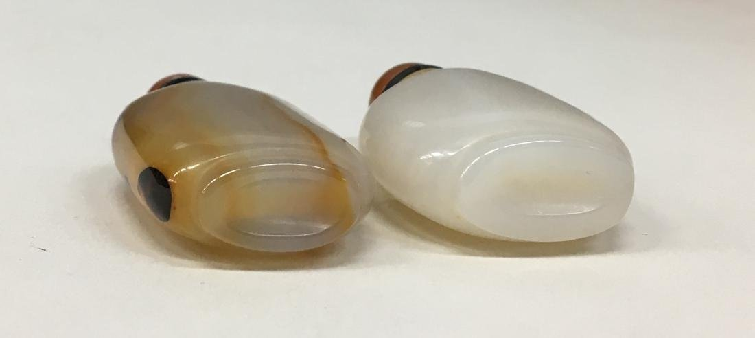 Two Chinese agate snuff bottle - 3