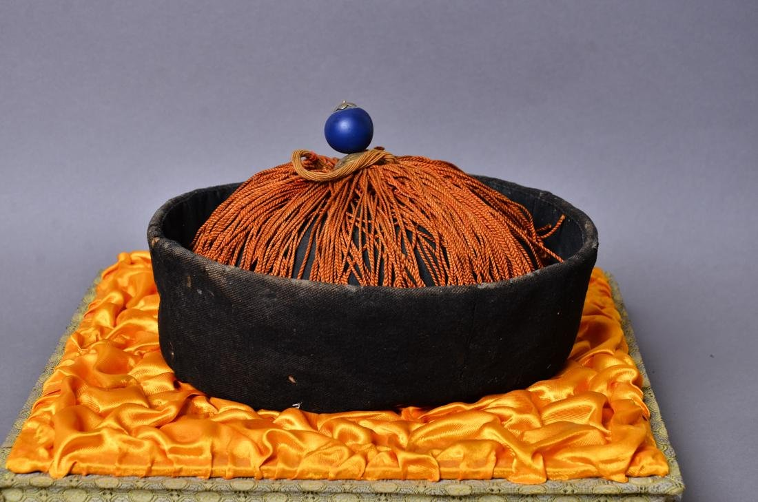 Chinese 18 century government officials hat