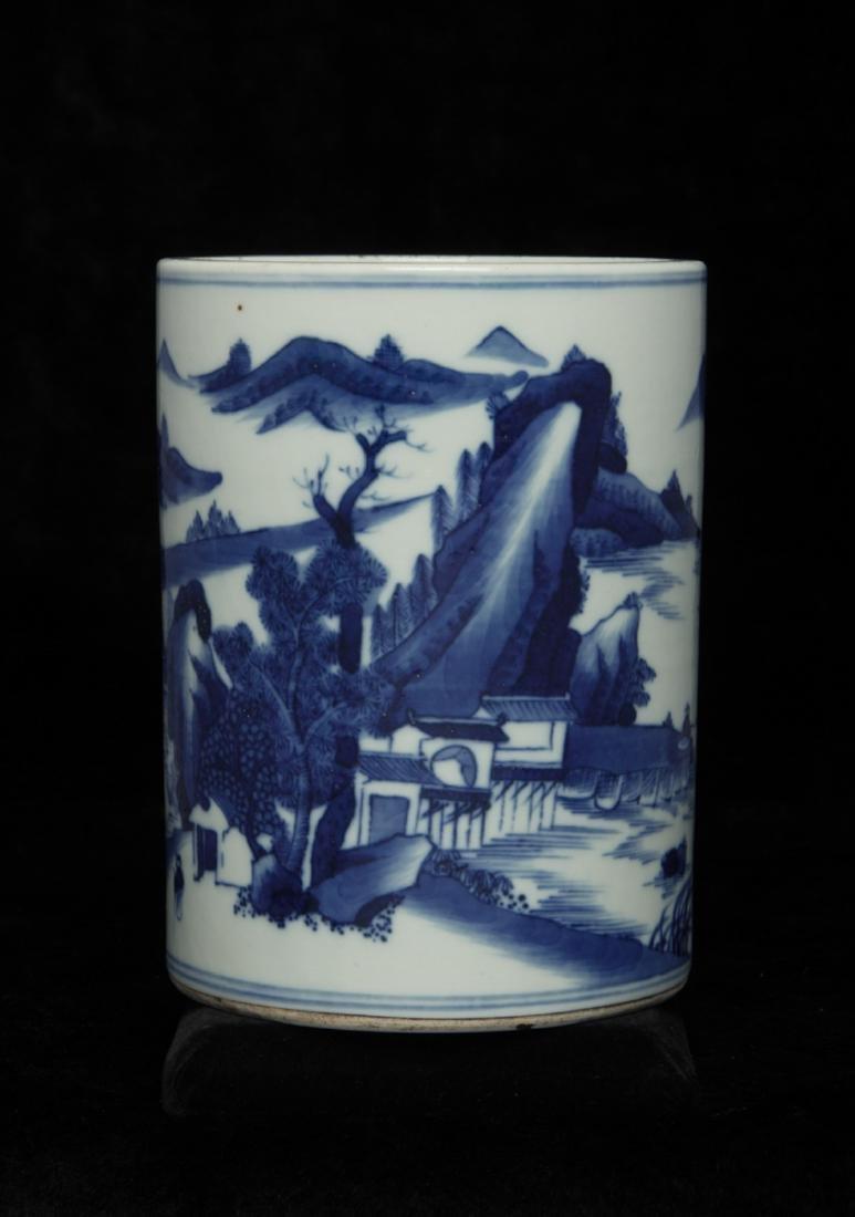 Chinese blue&white brush pot