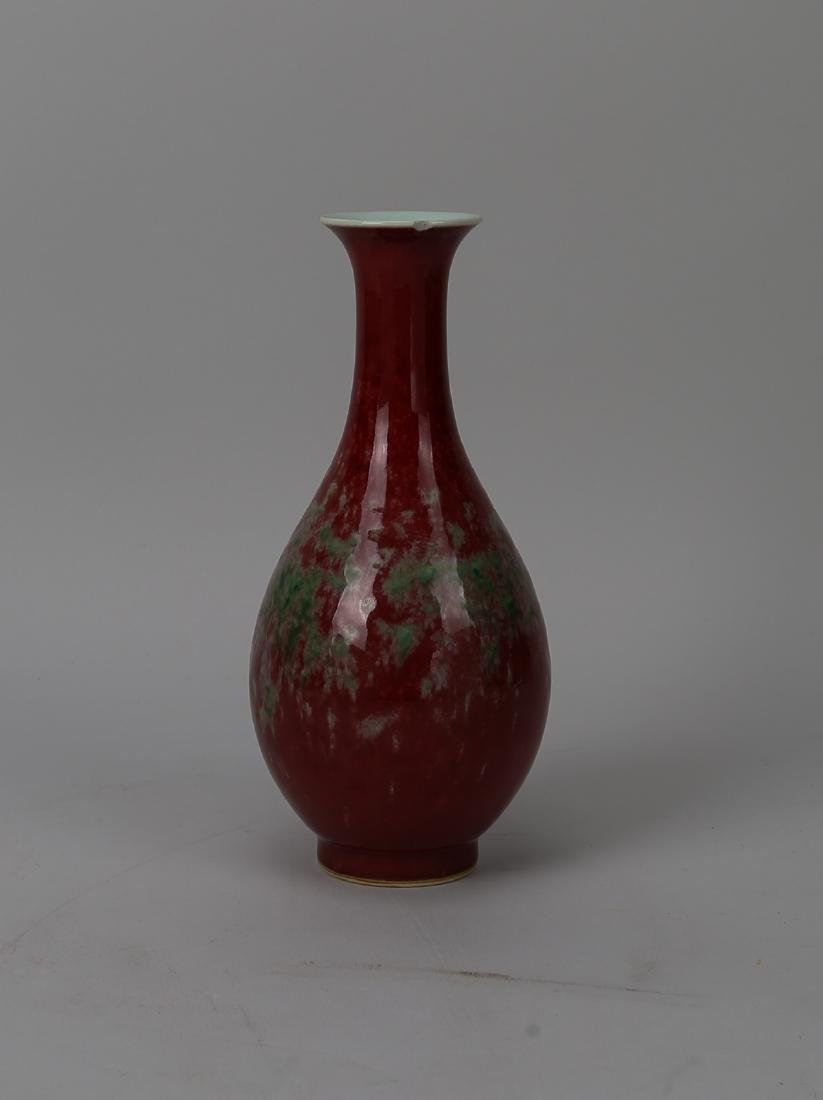 Chinese peach-blossom glazed vase