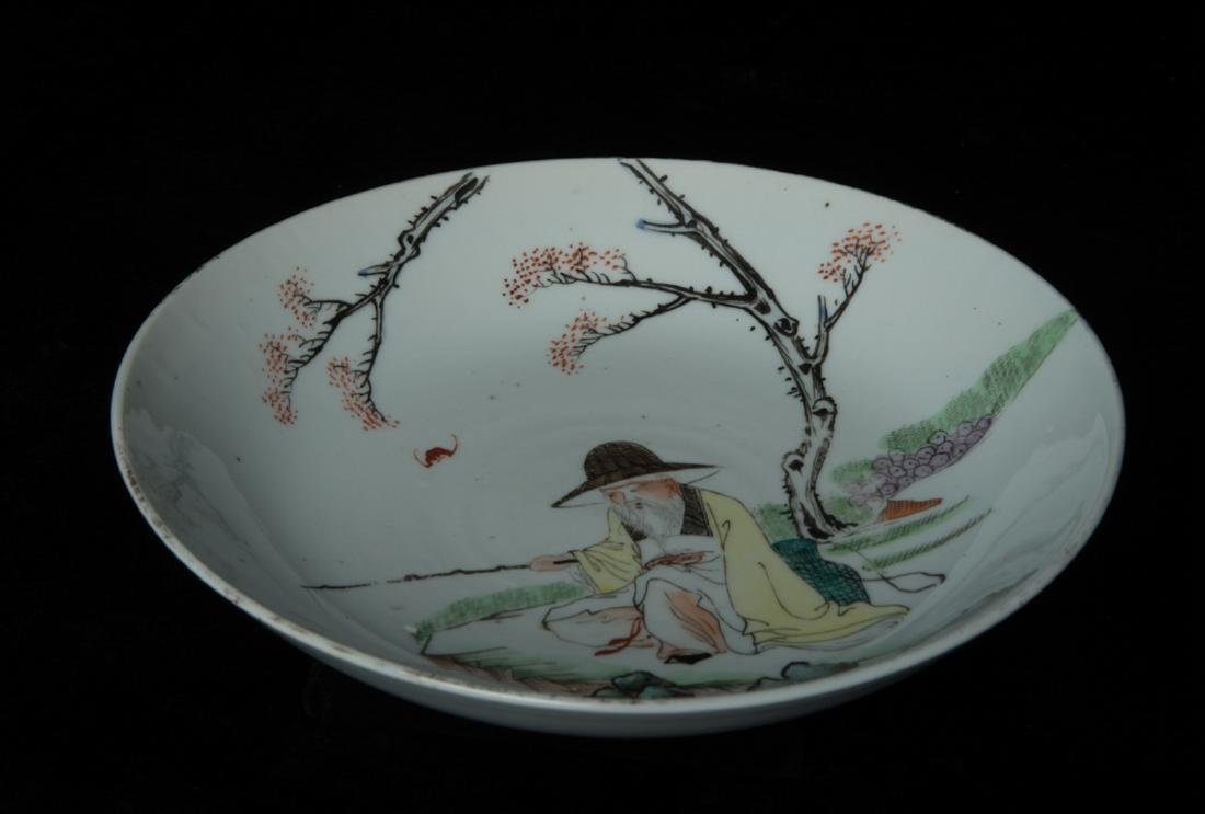 Chinese color painted porcelain dish