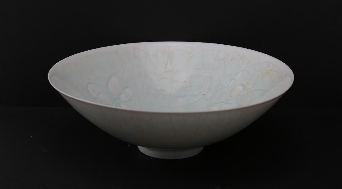 Song dynasty porcelain bowl carving of flower
