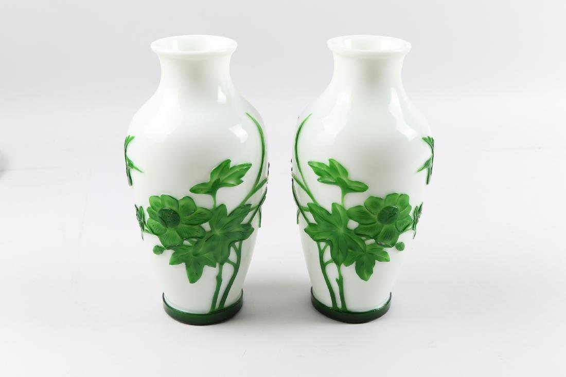 A pair of glass vase