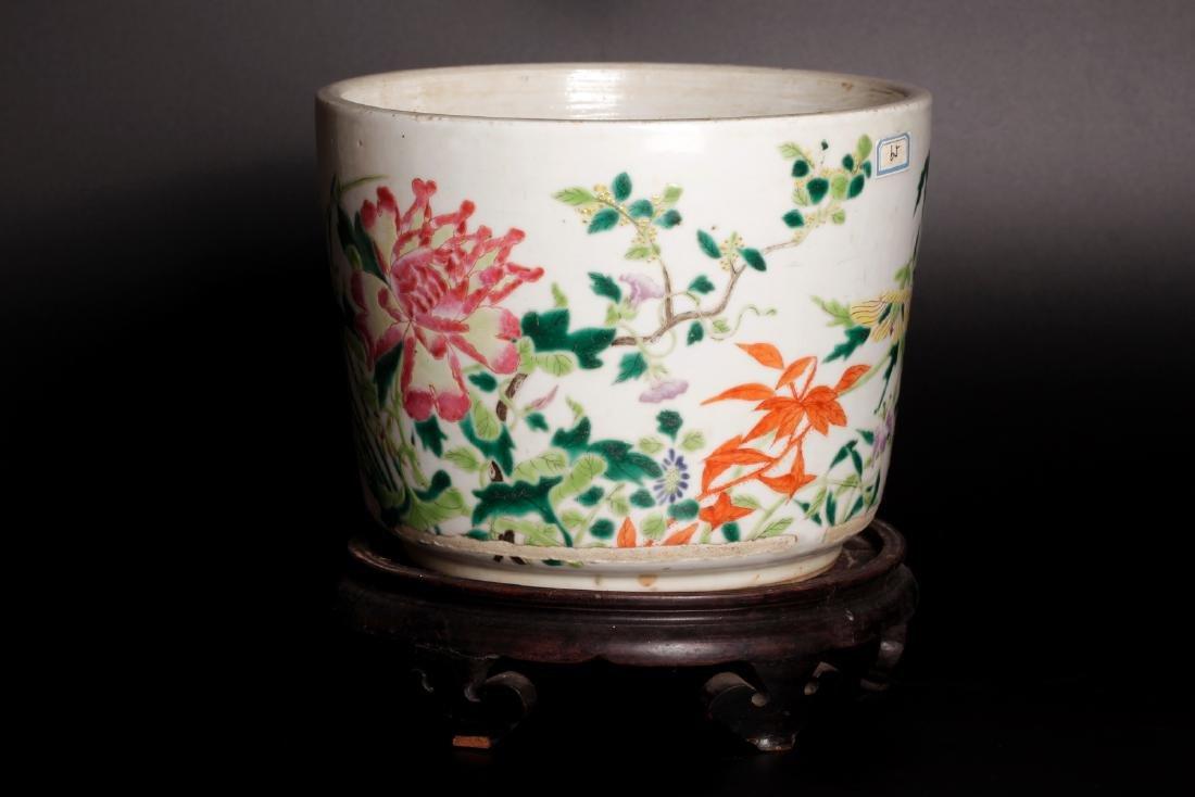 A porcelain flower pot